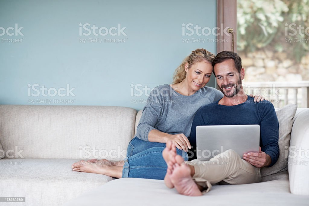 Catching up on some series stock photo