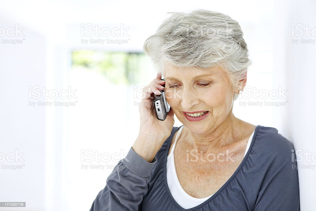 Catching up with loved ones is good for the soul royalty-free stock photo