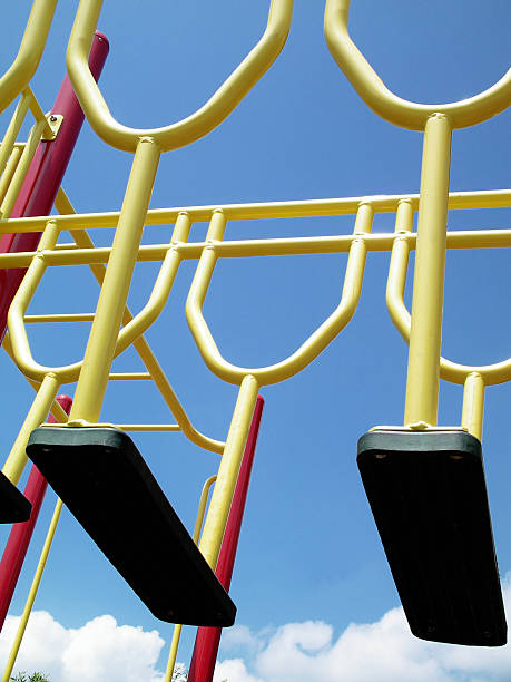 Catchy colors at the playground stock photo