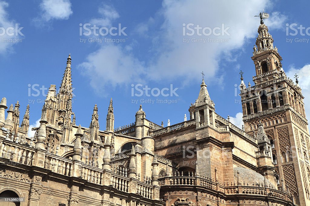 Catedral and Giralda, Seville, Spain stock photo