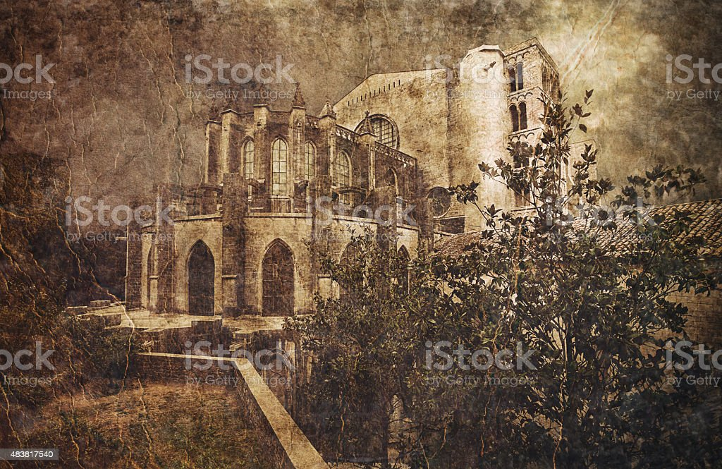 Catedral de Gerona. Girona. Spain stock photo