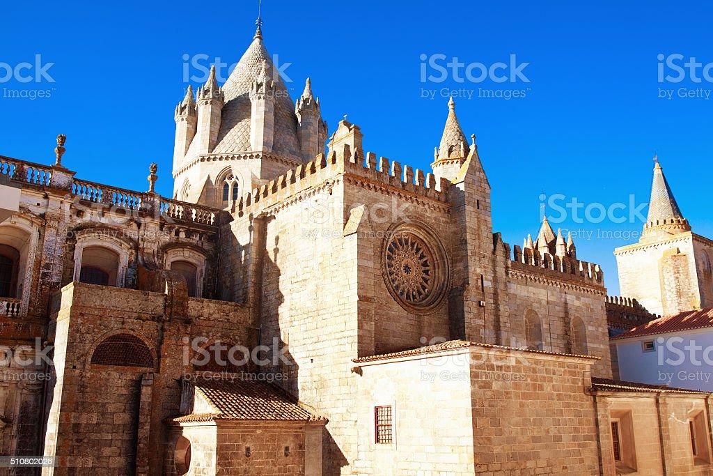 catedral Evora, Portugal stock photo
