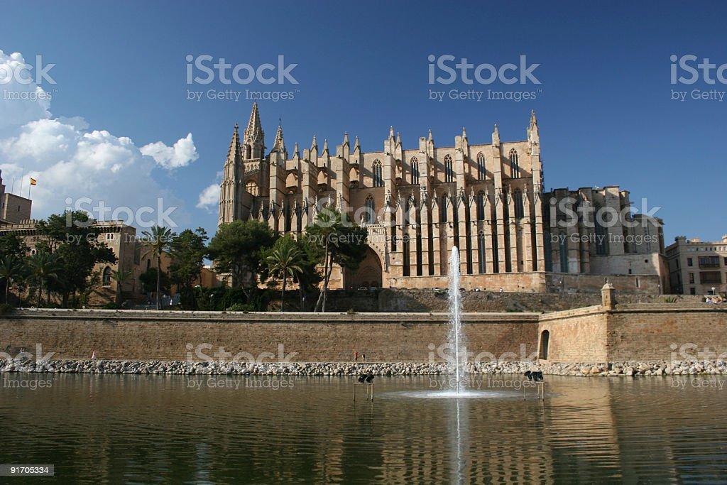 Catedral La Seu in Palma de Mallorca royalty-free stock photo