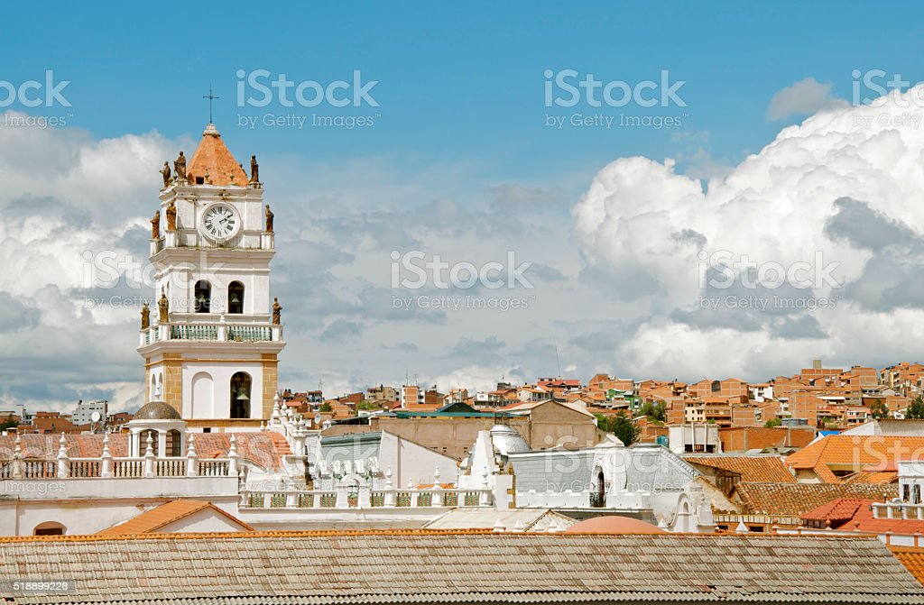 Catedral Metropolitana in Sucre Bolivia stock photo