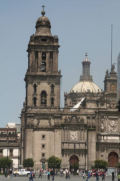 catedral mexico city stock photo