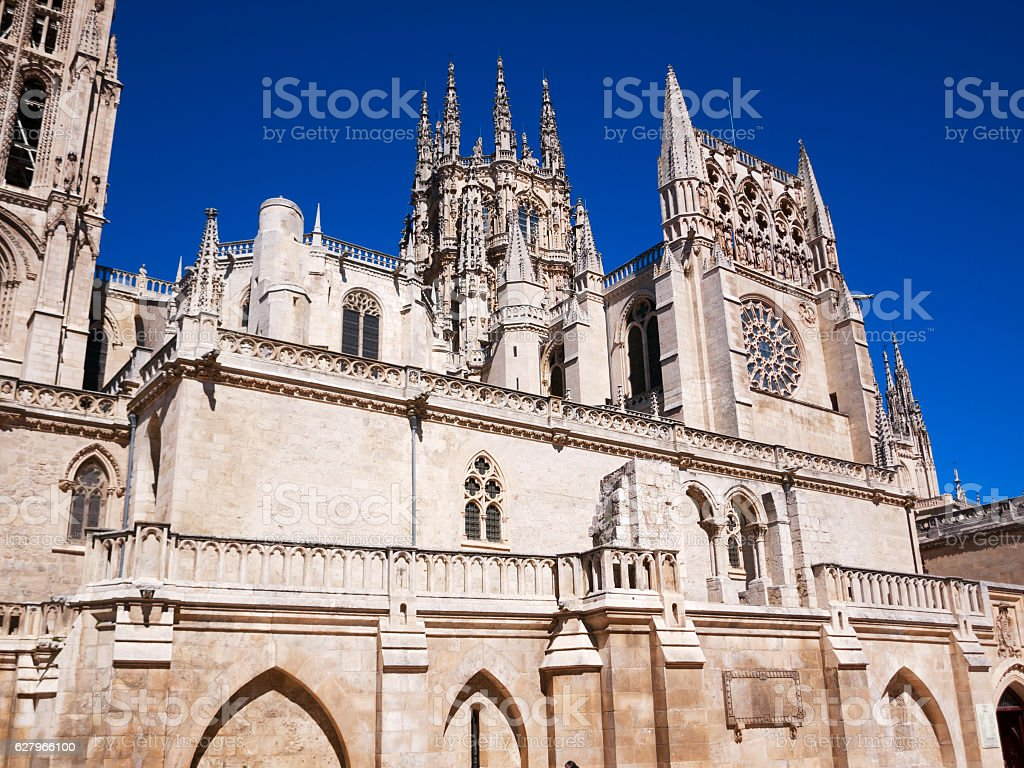Catedral of Burgos stock photo