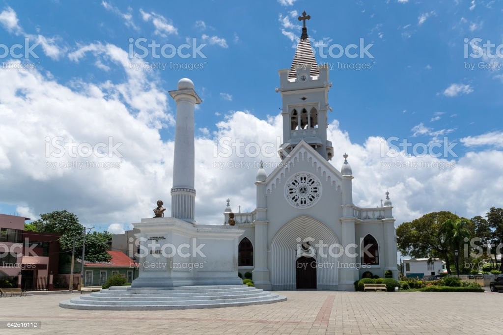 Catedral San Pedro de Macoris - San Pedro Apostol stock photo