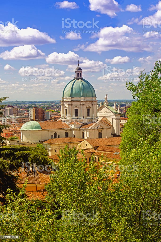 Catedrale of Brescia, Italy - foto stock