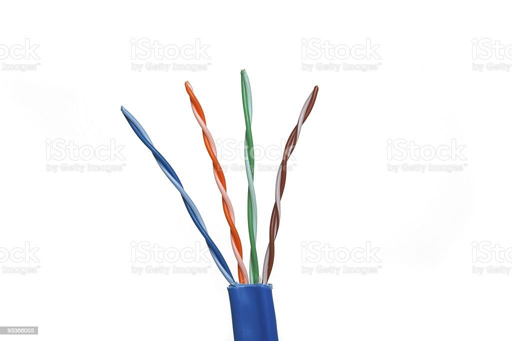 Category 6 Network Cable Twisted Pairs royalty-free stock photo