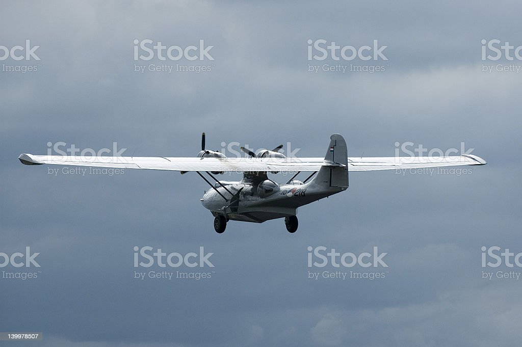 Catelina flying boat stock photo