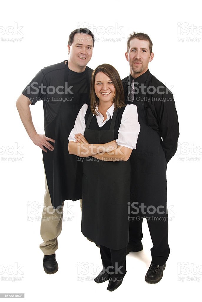 Caterers or Supermarket staff royalty-free stock photo