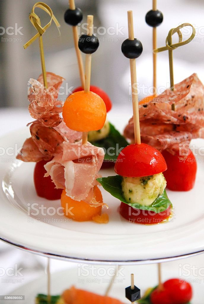 catering appetizers stock photo