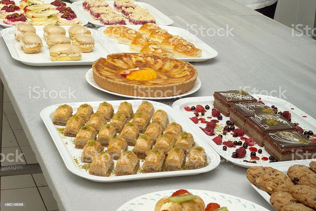 Catering. Dessert, Turkish Baklava stok fotoğrafı