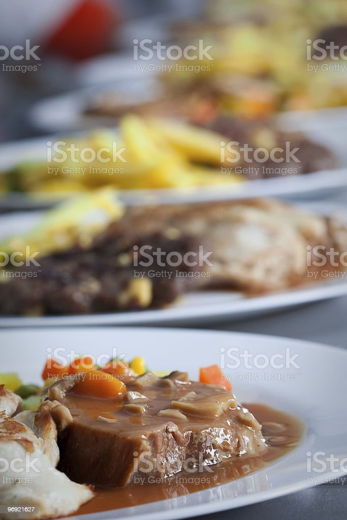 Catering food at restaurant kitchen royalty-free stock photo