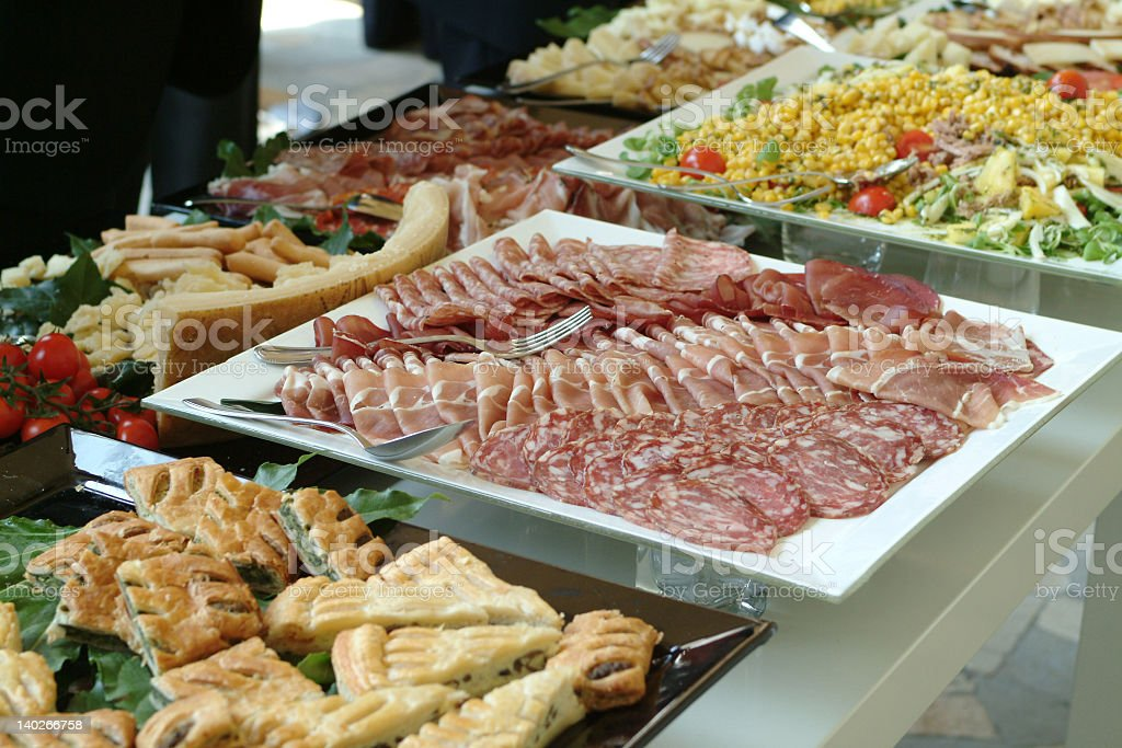Catering food of a buffet counter royalty-free stock photo