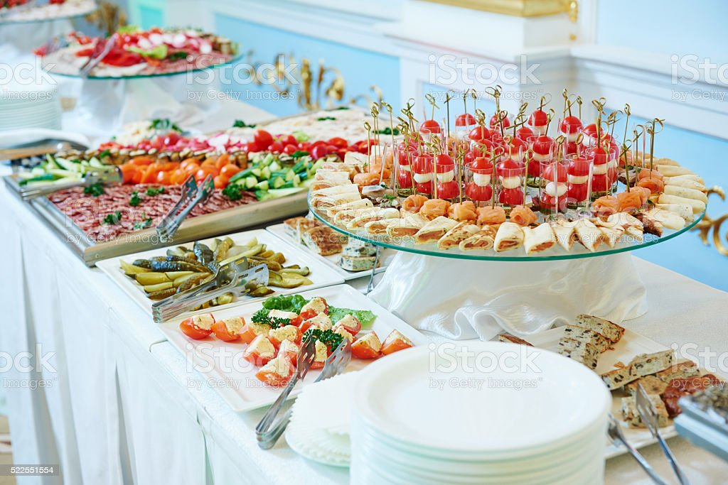 Catering food service stock photo