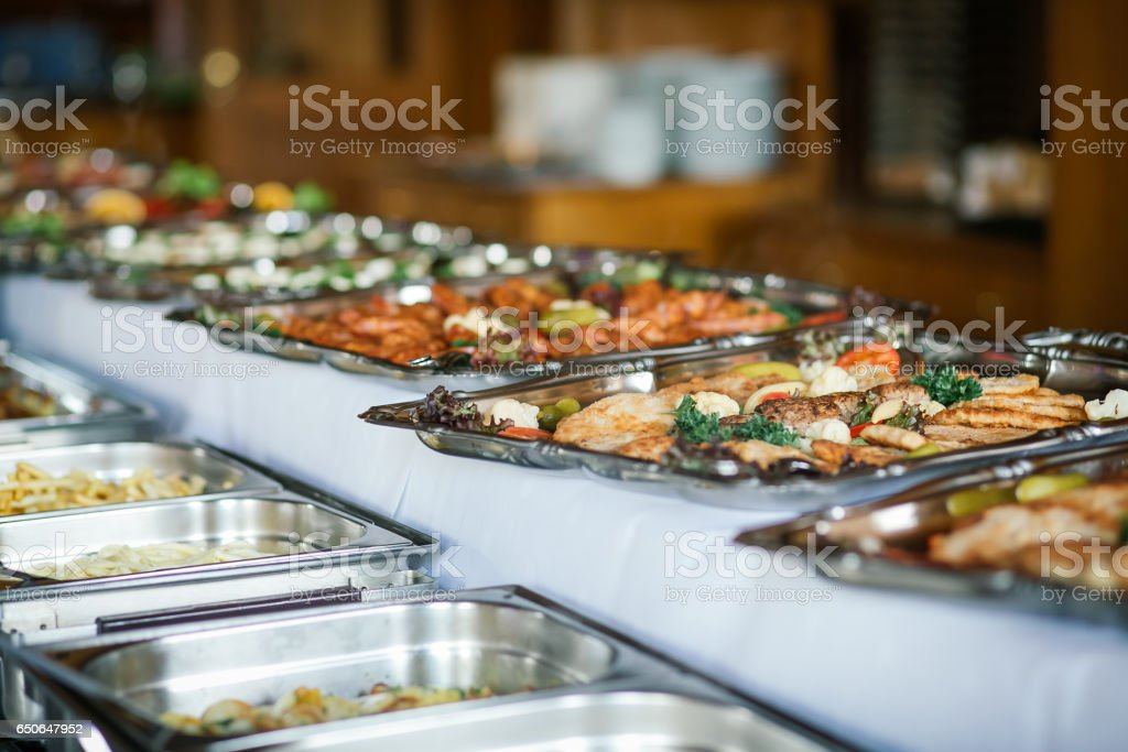 Catering comida boda evento mesa - foto de stock