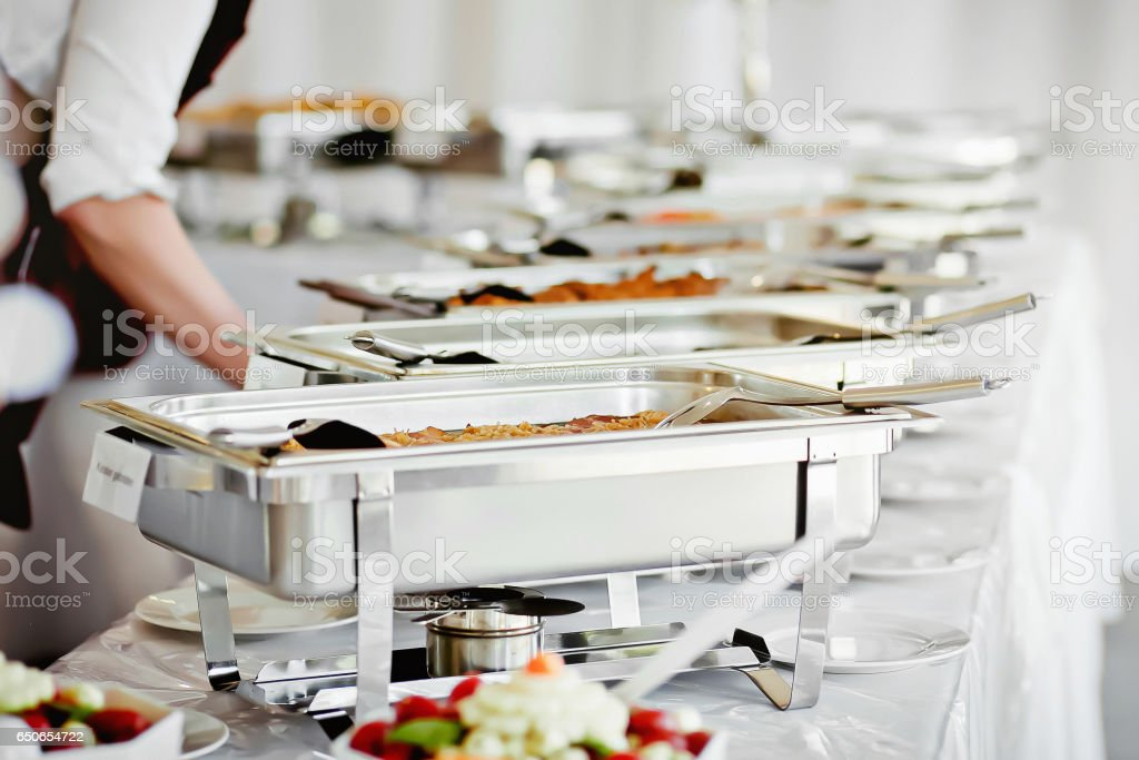 Catering Food Wedding Event Table stock photo