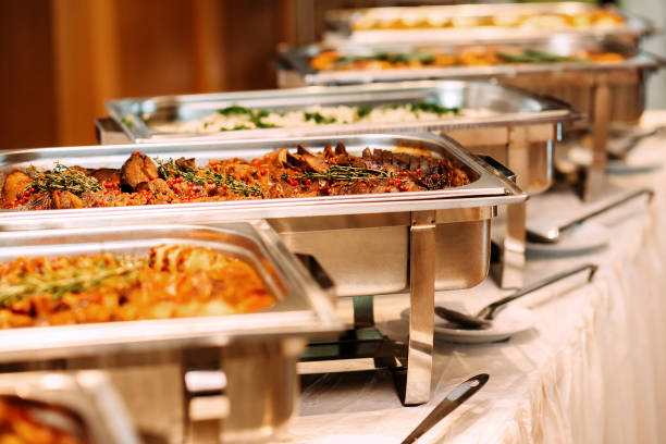 Catering Food Wedding Event Table - foto de stock