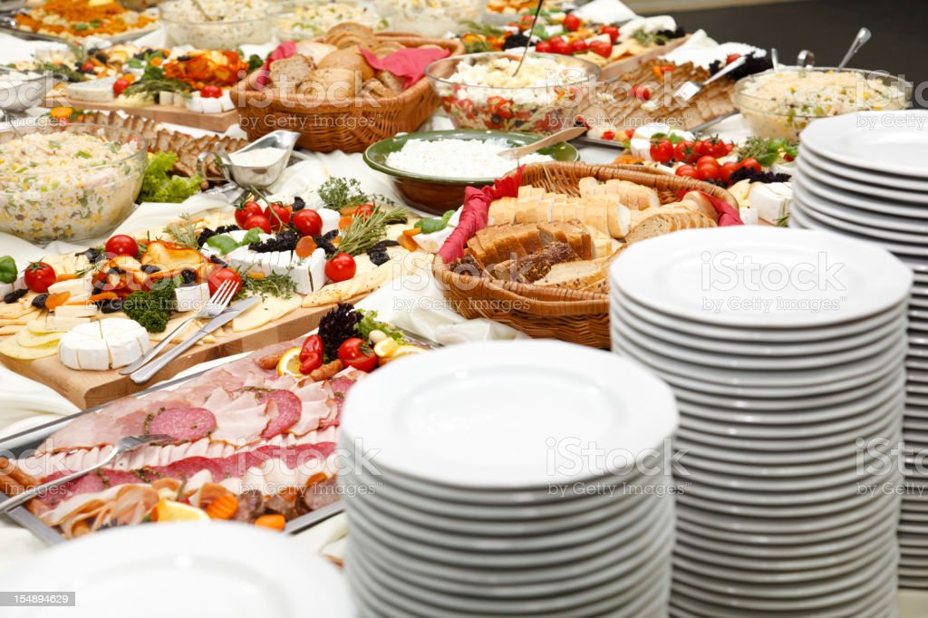 Catering table royalty-free stock photo