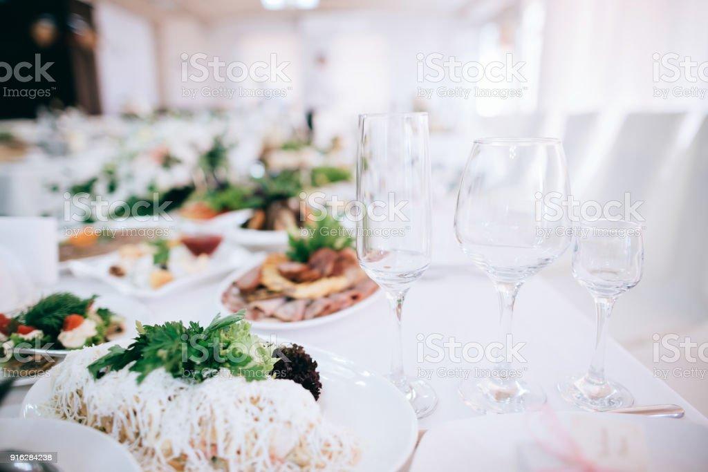 Catering Hochzeit Tisch Set Mit Besteck Und Glas