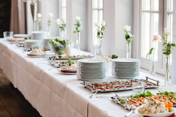Catering boda eventos buffet - foto de stock