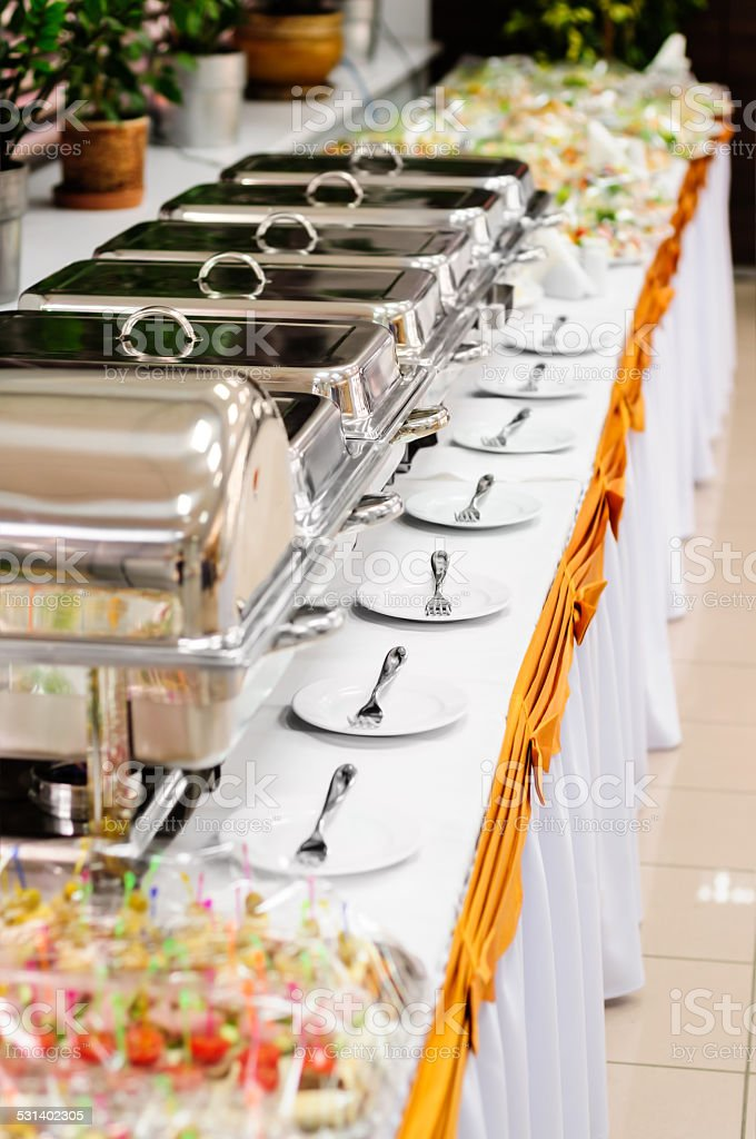 catering wedding stock photo