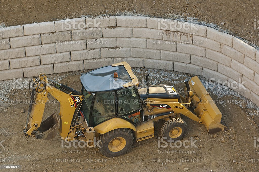 Caterpillar Backhoe stock photo