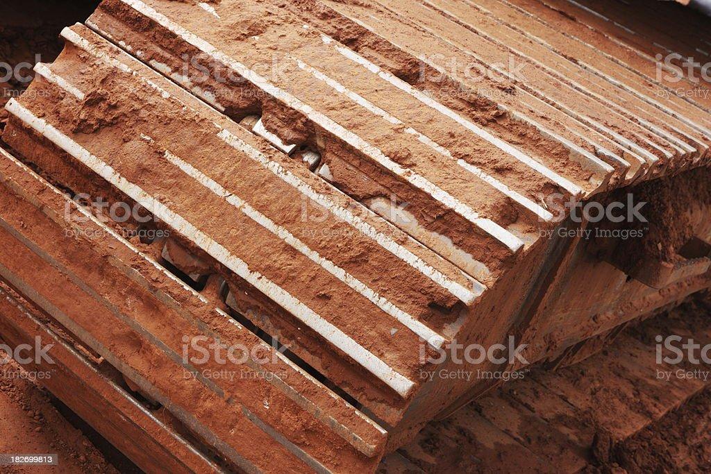 Caterpillar Track Construction Equipment Tool royalty-free stock photo