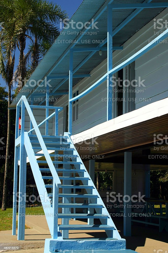 Catetinho's Wood Residence escadas em Brasília - foto de acervo
