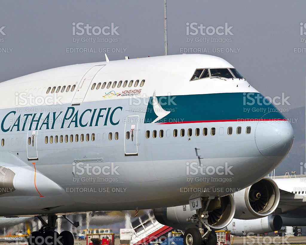 Cathay 747-400 royalty-free stock photo