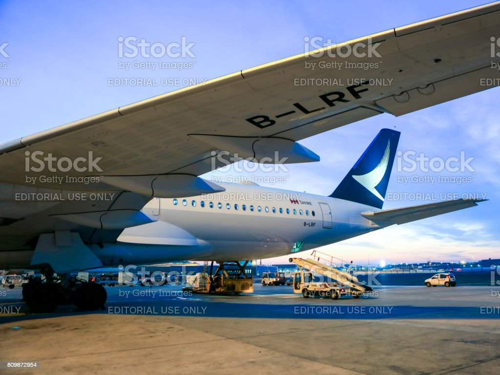 Cathay Pacific A350 - foto stock