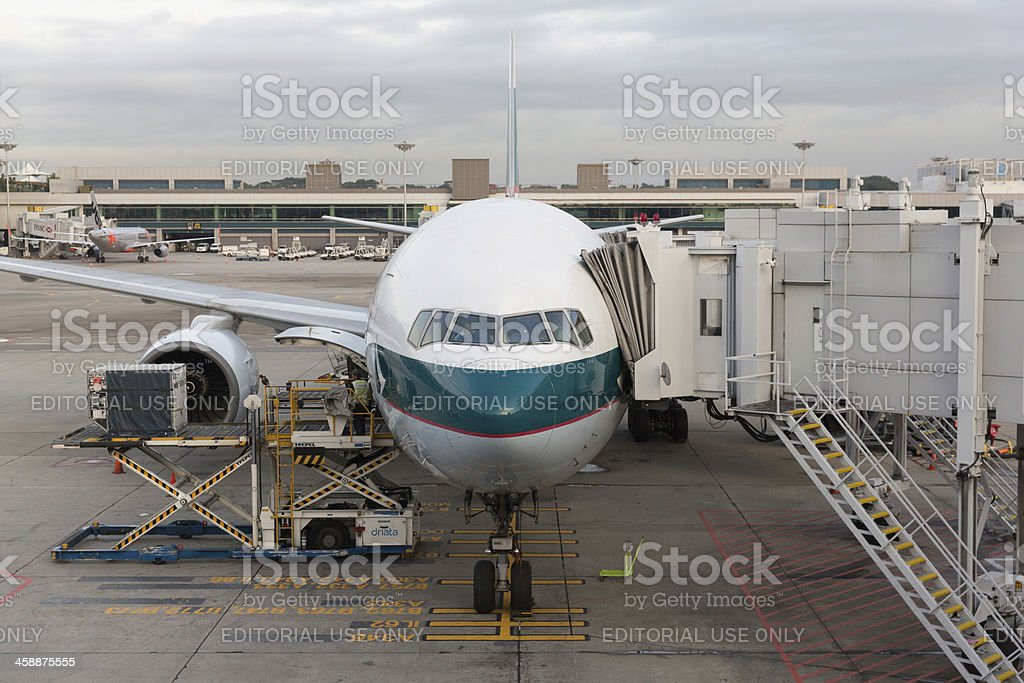 Cathay Pacific Airways Boeing 777-200 royalty-free stock photo