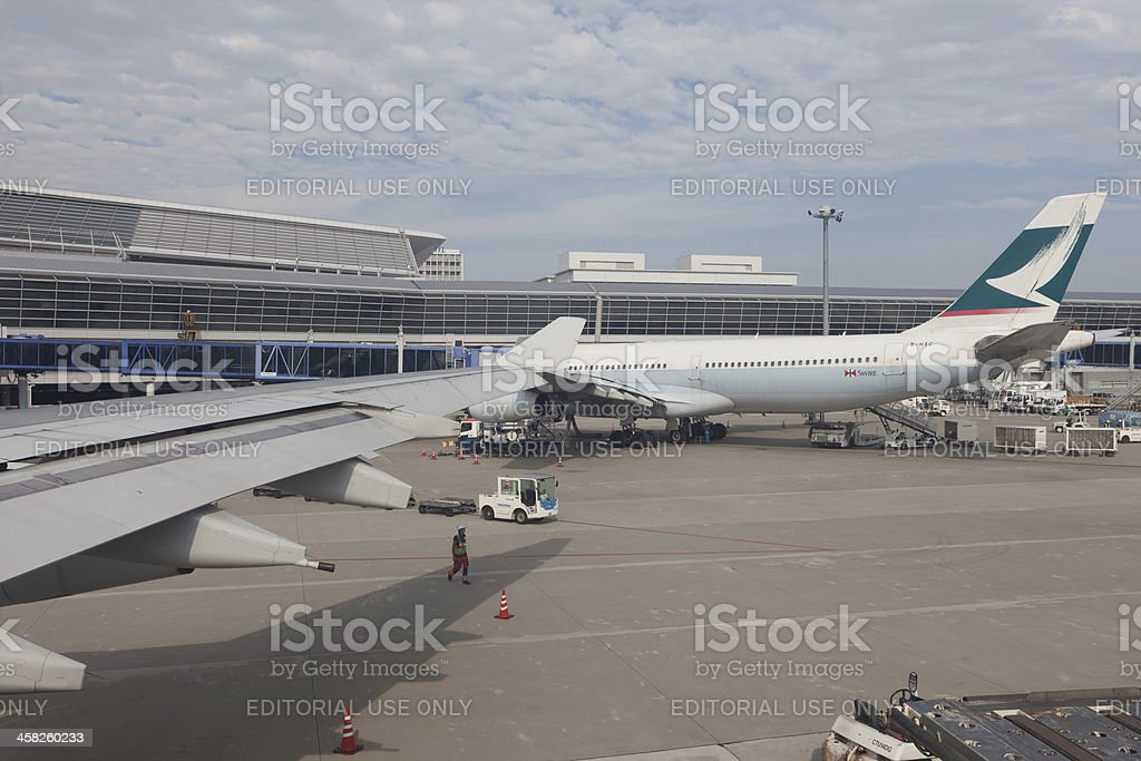 Cathay Pacific Airways royalty-free stock photo