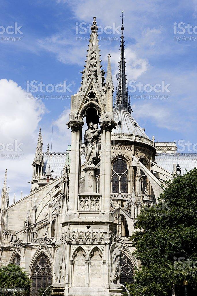 Cathédrale Notre-Dame, Paris royalty-free stock photo