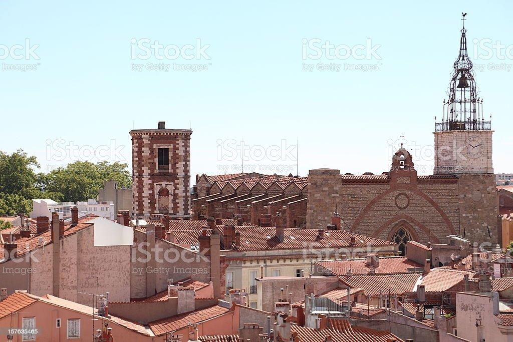 Cathédrale St-Jean, Perpignan - France stock photo