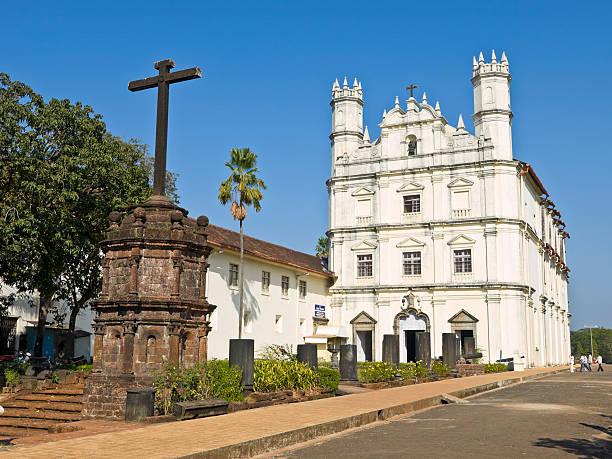 Cathederal en Old Goa - foto de stock