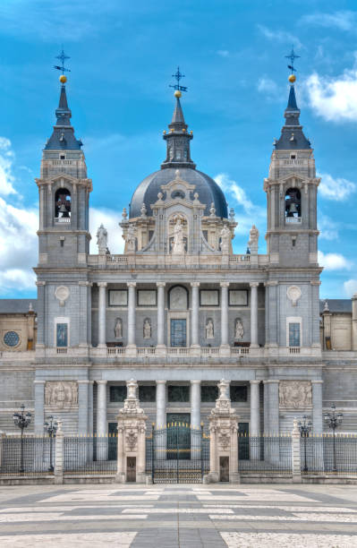 Cathedral Almudena, Spain, Madrid stock photo