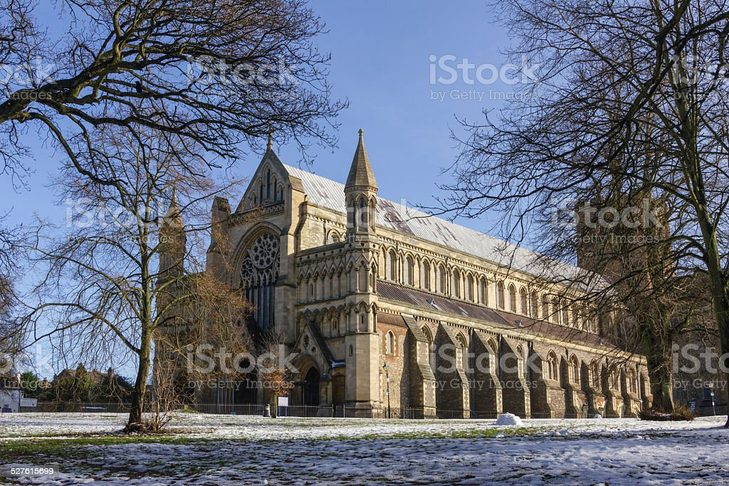 Cathedral and Abbey Church in St.Albans, UK stock photo