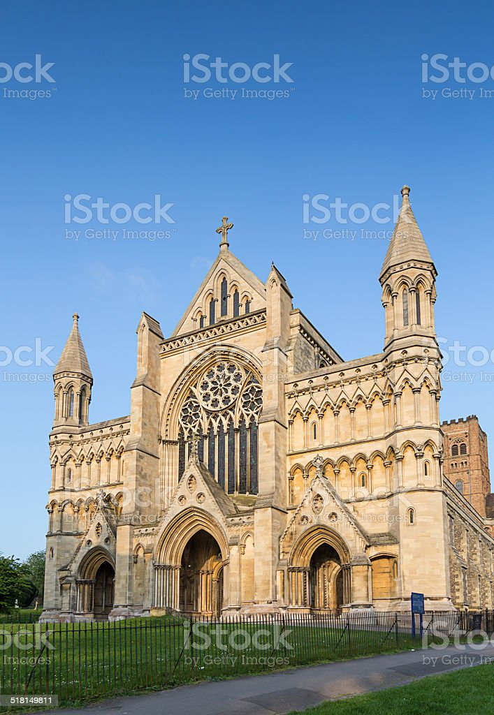 Cathedral and Abbey Church Saint Alban St.Albans stock photo