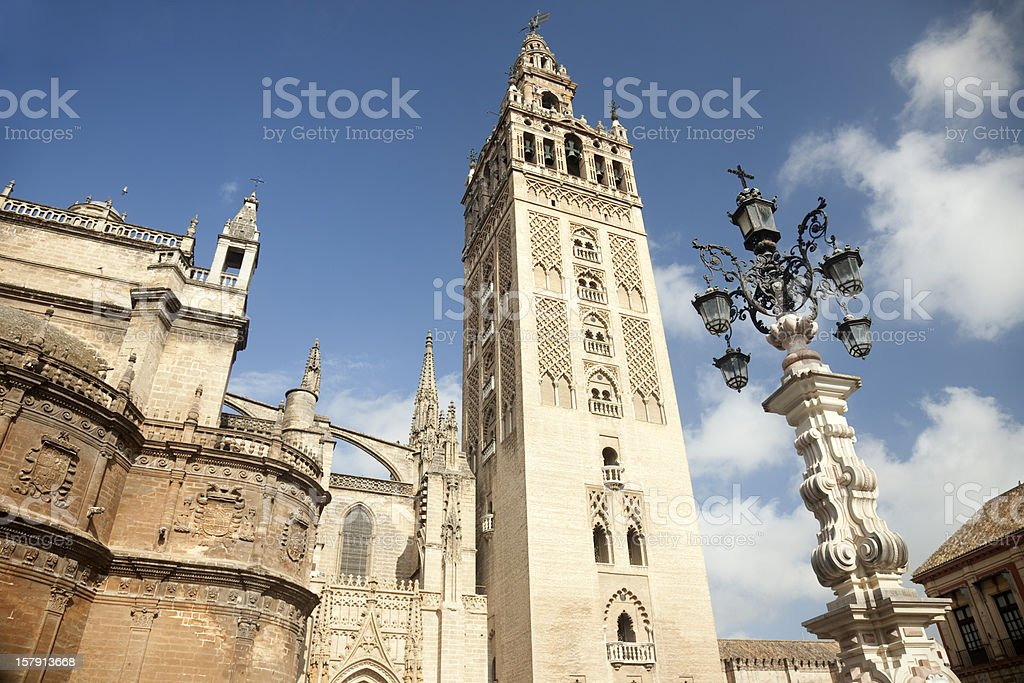 Cathedral and Giralda, Seville, Spain royalty-free stock photo