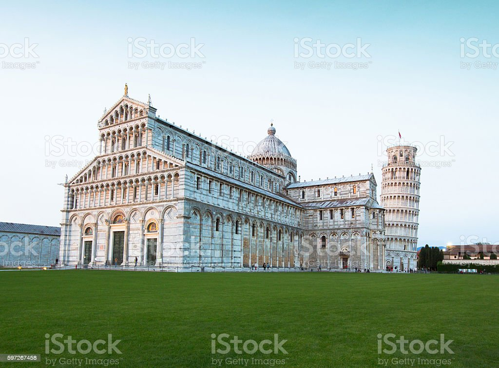 Cathedral and the Leaning Tower of Pisa Lizenzfreies stock-foto