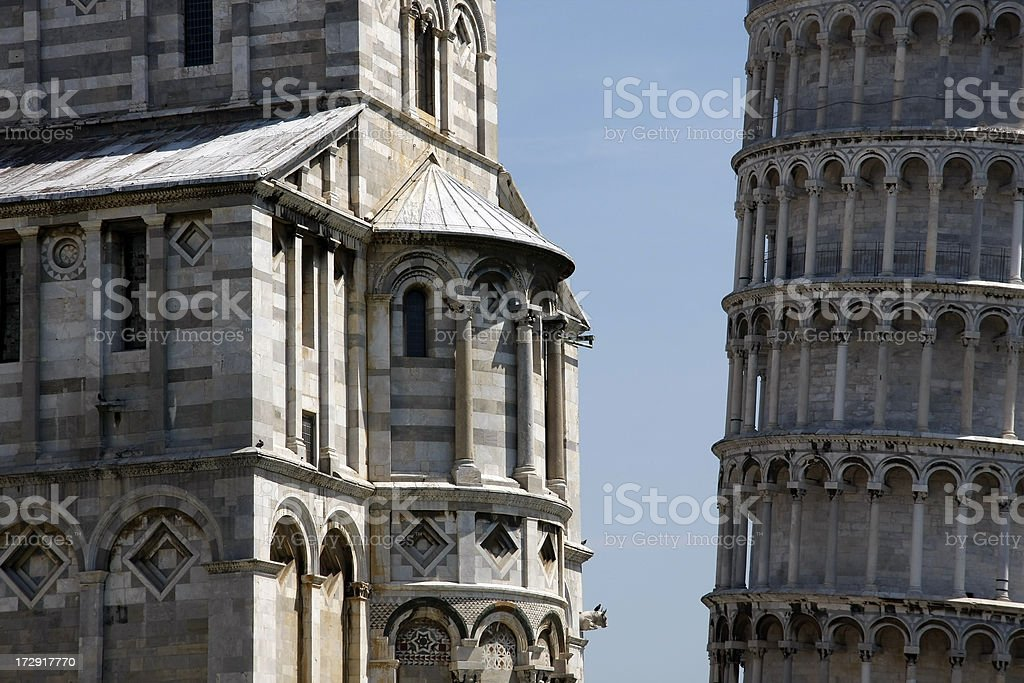 Cathedral and Tower royalty-free stock photo