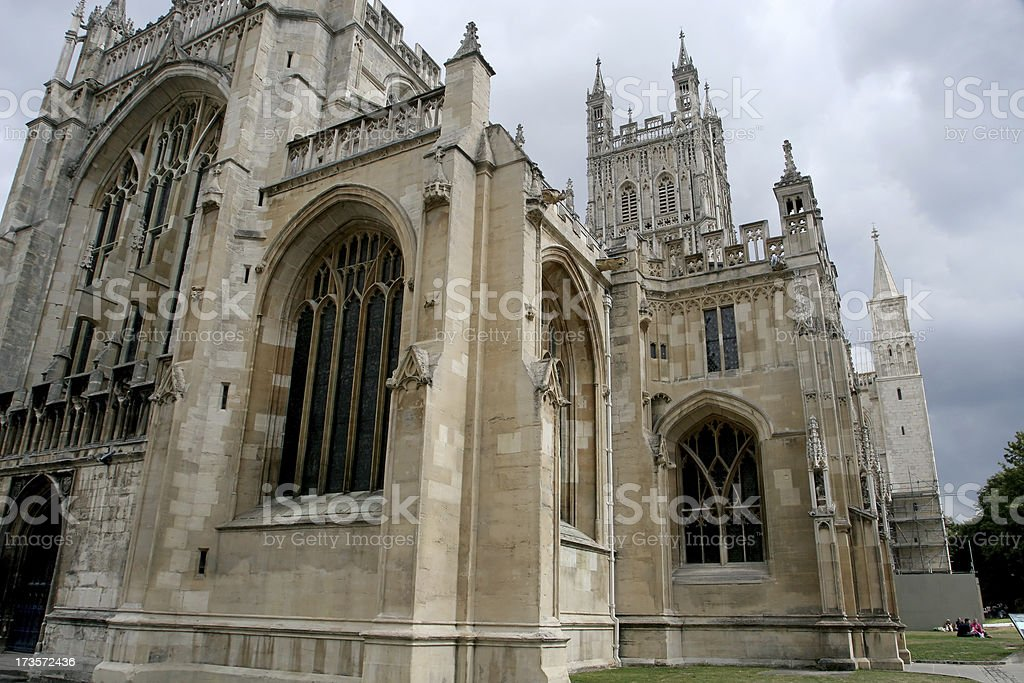 Cathedral at Gloucester, England royalty-free stock photo