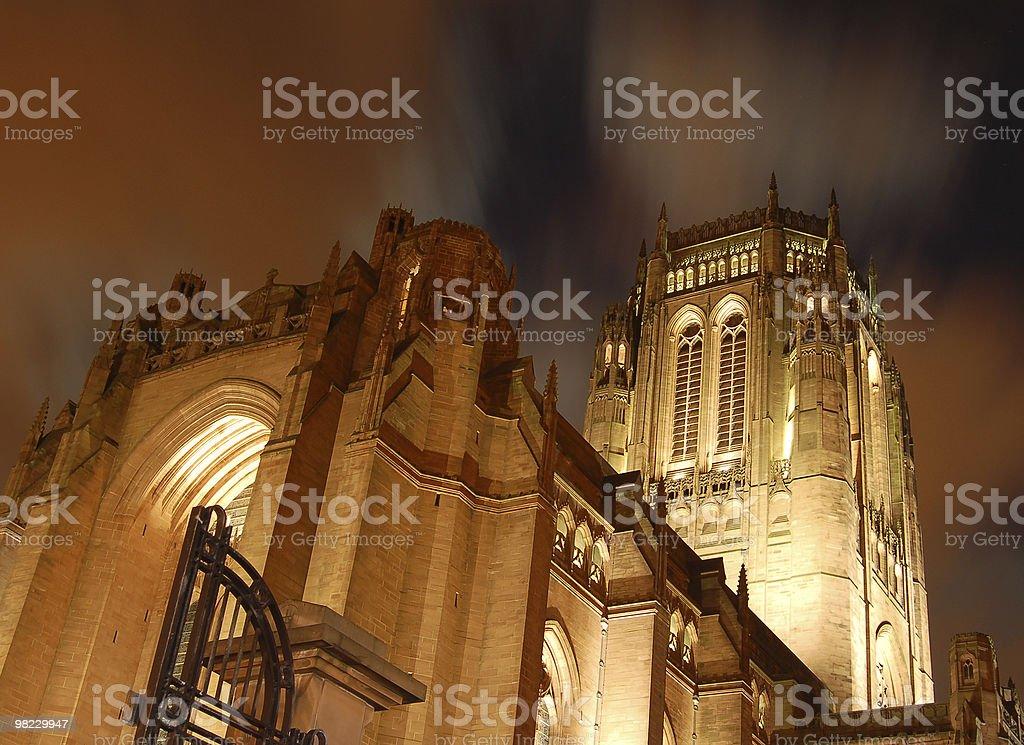 Cathedral at night royalty-free stock photo