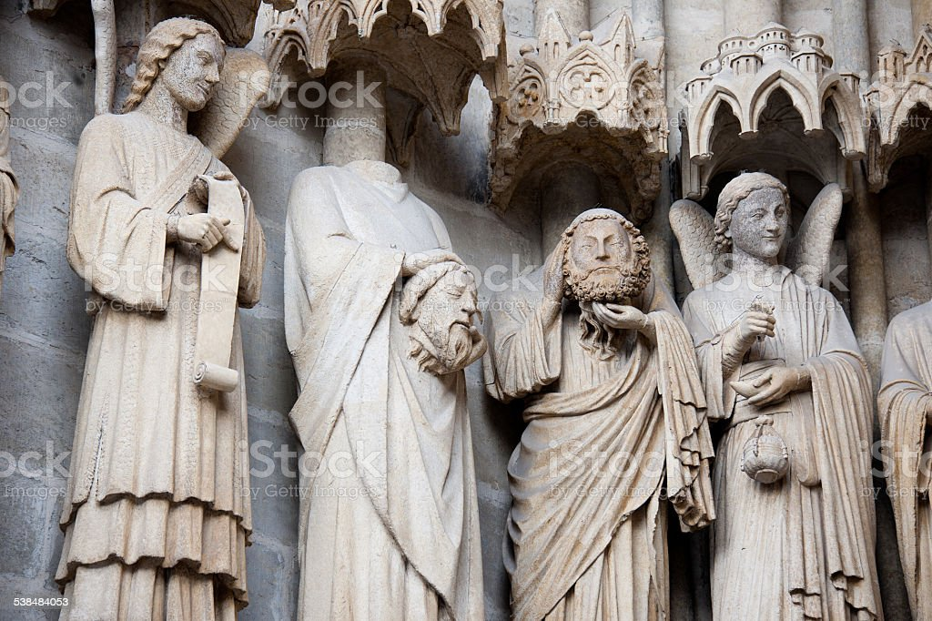 Cathedral Basilica of Our Lady of Amiens7 (France) stock photo