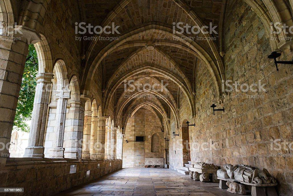 Cathedral Basilica of Santander stock photo
