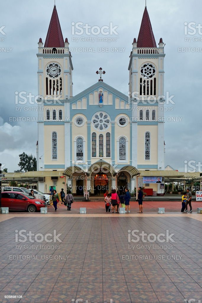 Cathedral church of Our Lady of the Atonement. Baguio-Benguet province-Philippines. 0254 stock photo