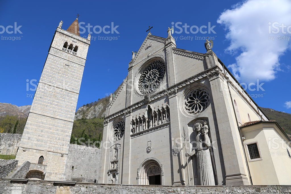 Cathedral Church of the town of GEMONA in Italy stock photo