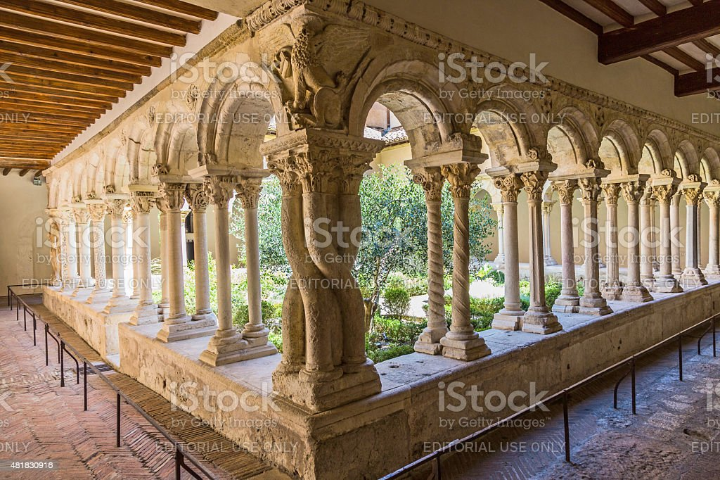Cathedral Cloister in Aix-en-Provence stock photo